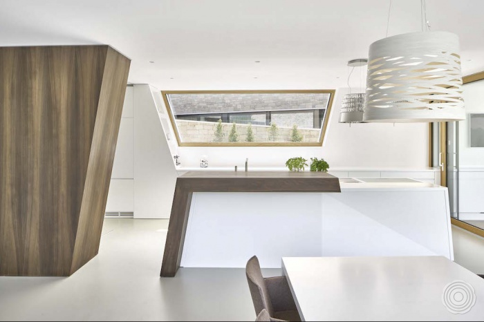solid surface the design of the kitchen was inspired by the